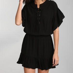 Gap Ruffle Lace Up Dress Sz S